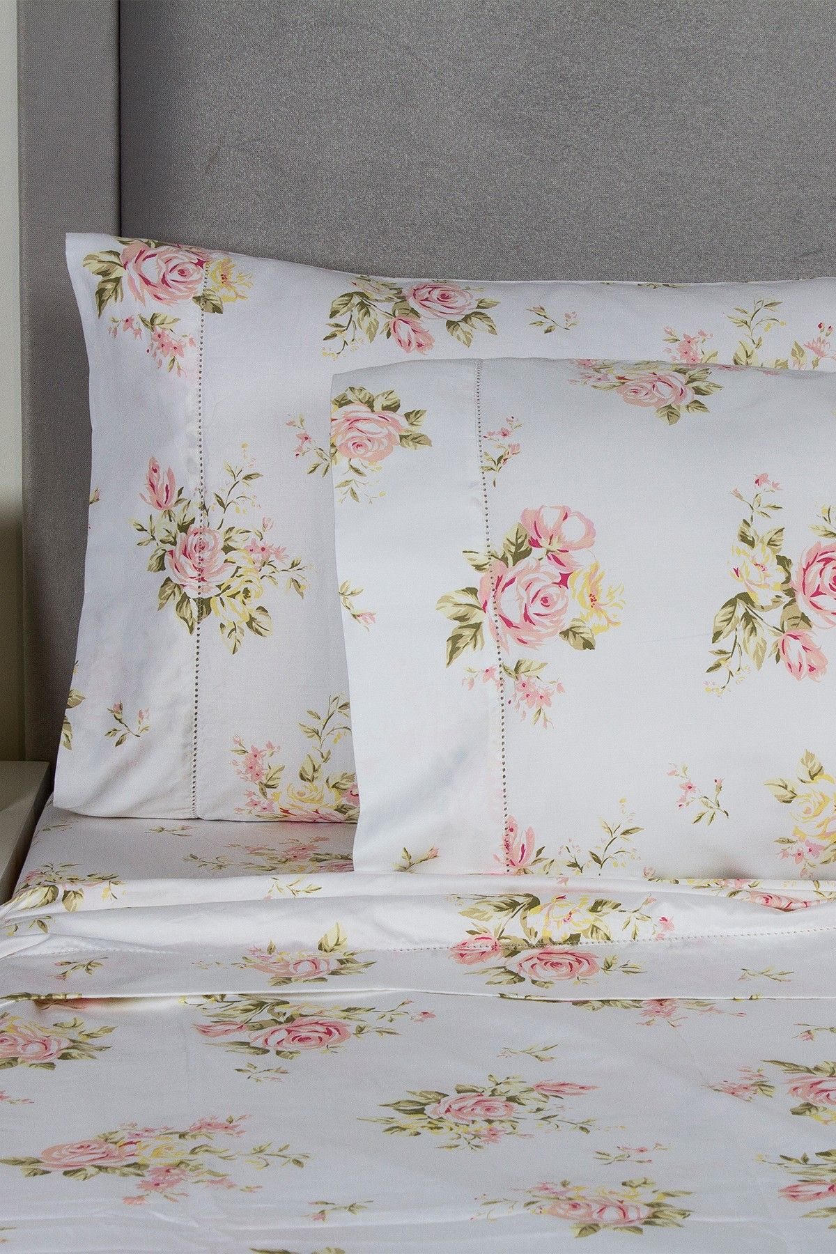 Melange Home 400 Thread Count Cotton Rose Bouquet Sheet