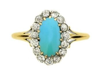 6 Swoon Worthy Engagement Rings Featuring Turquoise You Have To See Em Believe It P S Hy Birthday December Babies