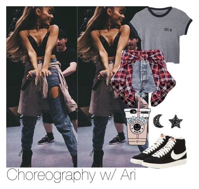 """""""Choreography w/ Ari"""" by mamaloser1 ❤ liked on Polyvore featuring The Cassette Society and NIKE"""