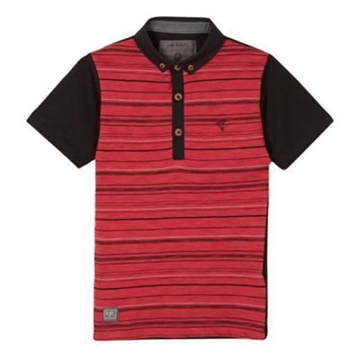 RJR.John Rocha Designer boy's red broken striped polo shirt- at Debenhams.com