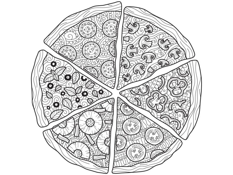 Pizza Coloring Sheet Pizza Coloring Page Food Coloring Pages