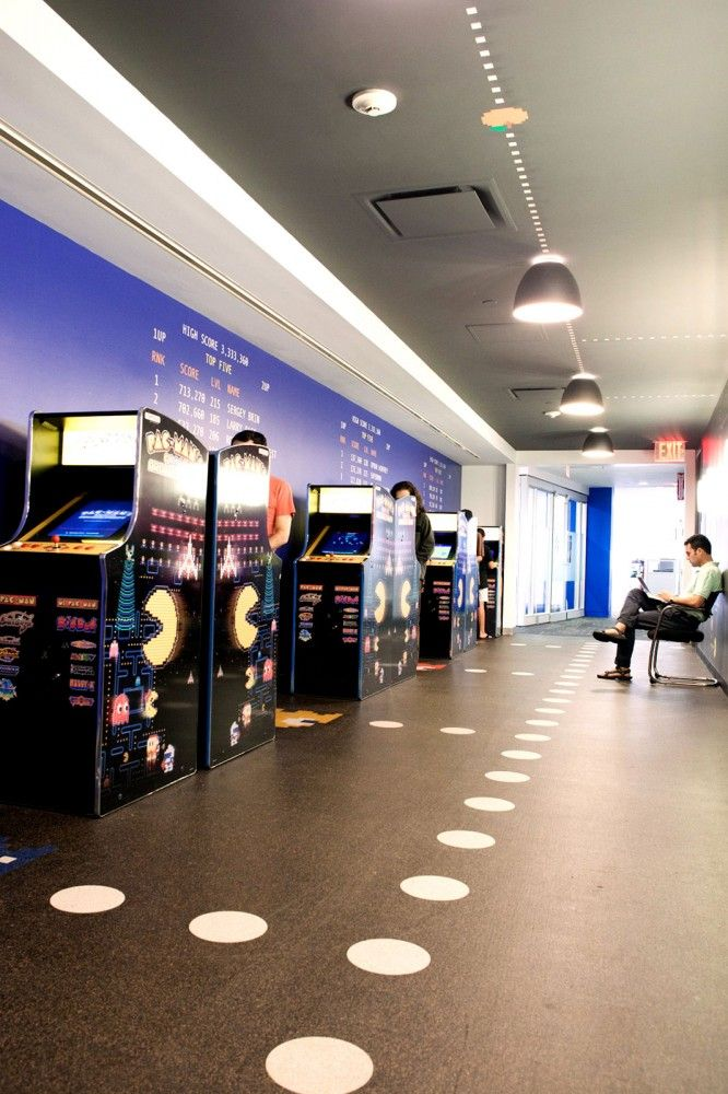 Cool Interior Office Designs With Plants: Tour Of Googles Cool NYC Headquarters In