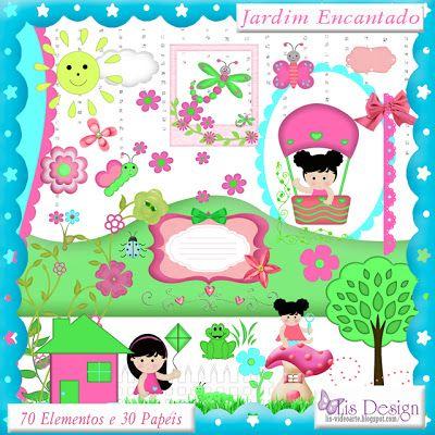 Lis Design: *Jardim Encantado* Novo Freebie