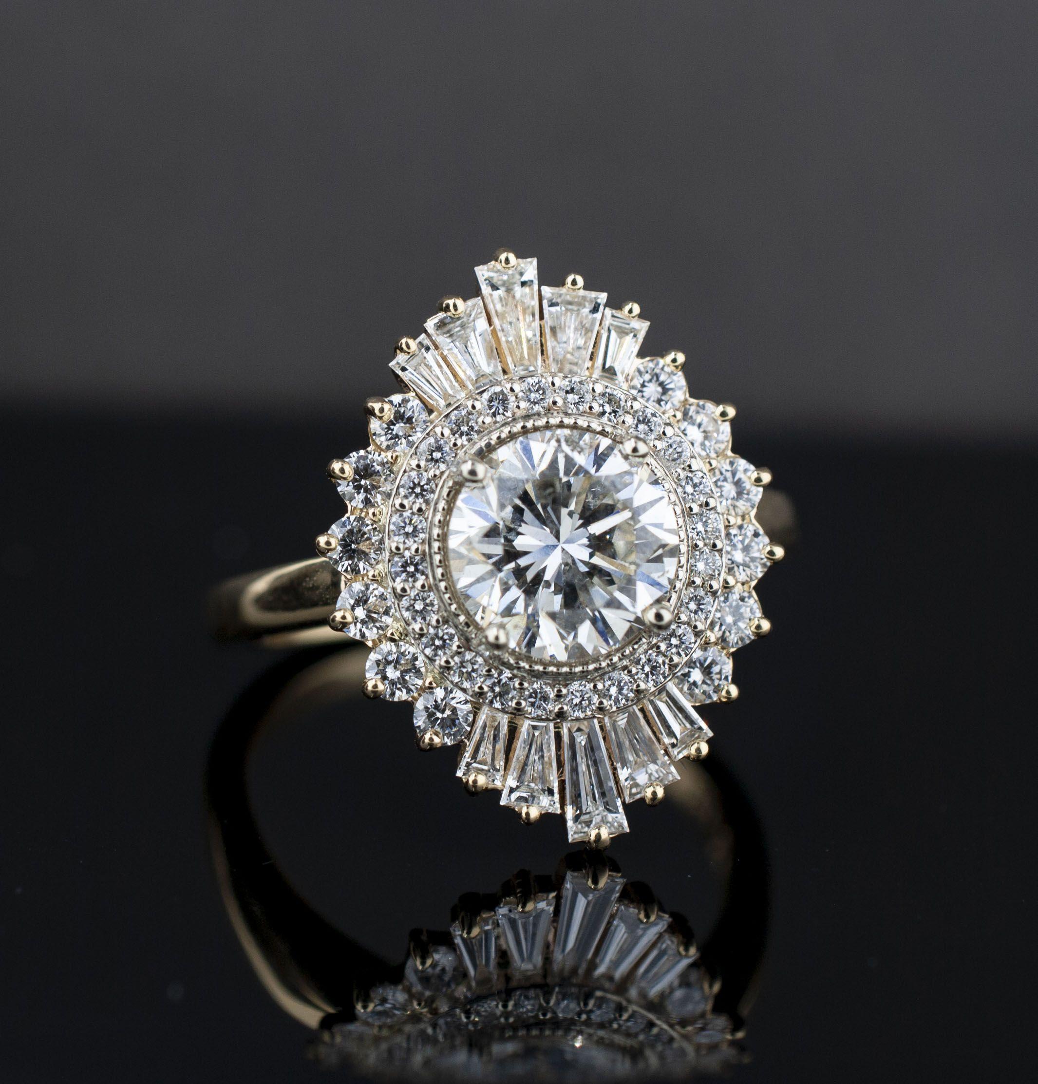1930s Engagement Ring Art Deco Ring Vintage Ring Sapphire Ring  1930s Ring Vintage Engagement Ring Sapphire Ring Starburst Ring