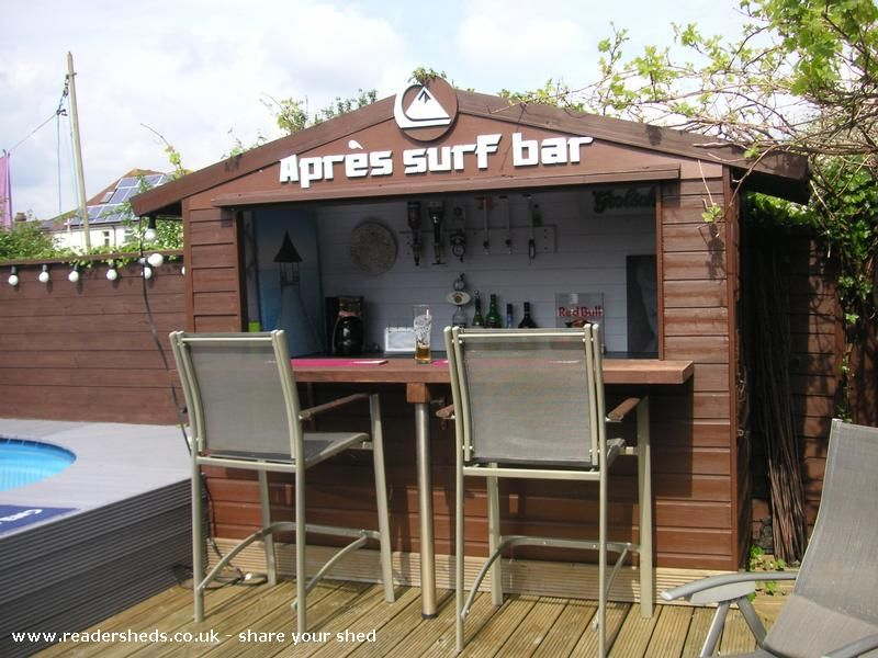 Up the shed is an entrant for shed of the year 2012 via for Garden shed bar