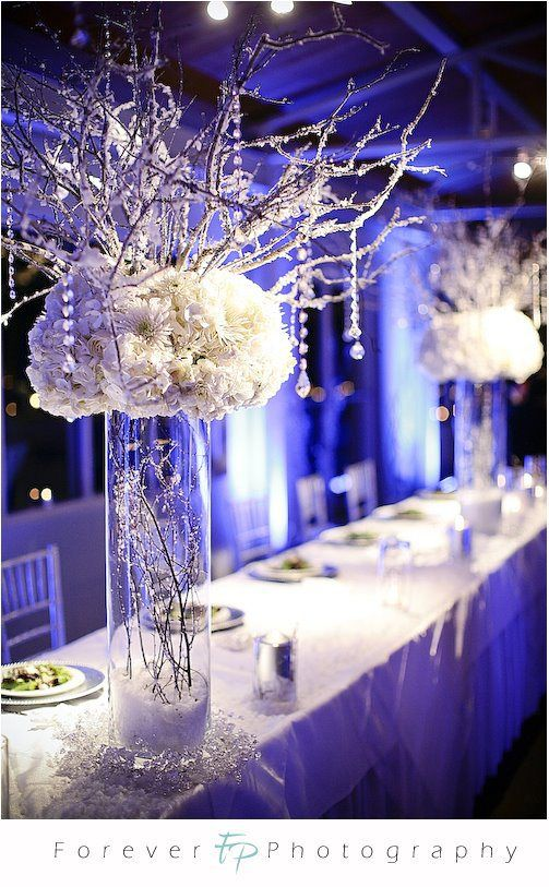 Winter wedding table wedding ideas for brides grooms parents flower disagreement are they winter weddingy enough help me wedding winter wonderland head table decor picture on visualizeus junglespirit Images