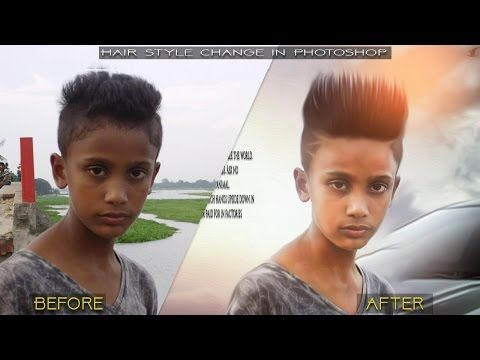 Change Hairstyle In Photoshop 2017 Photoshop Tutorial Youtube