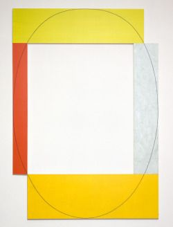 """Daily Art Shot (730 of ∞):Robert Mangold, """"Four Color Frame Painting #9,"""" 1984Acrylic and graphite on canvas"""