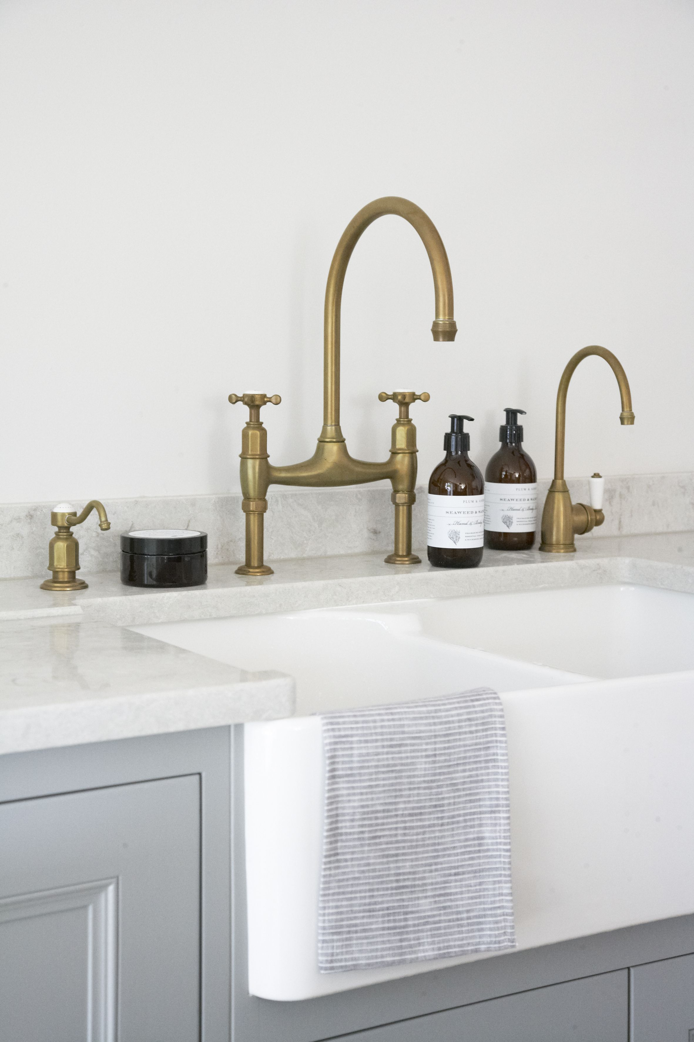 Photo of Brass kitchen tap