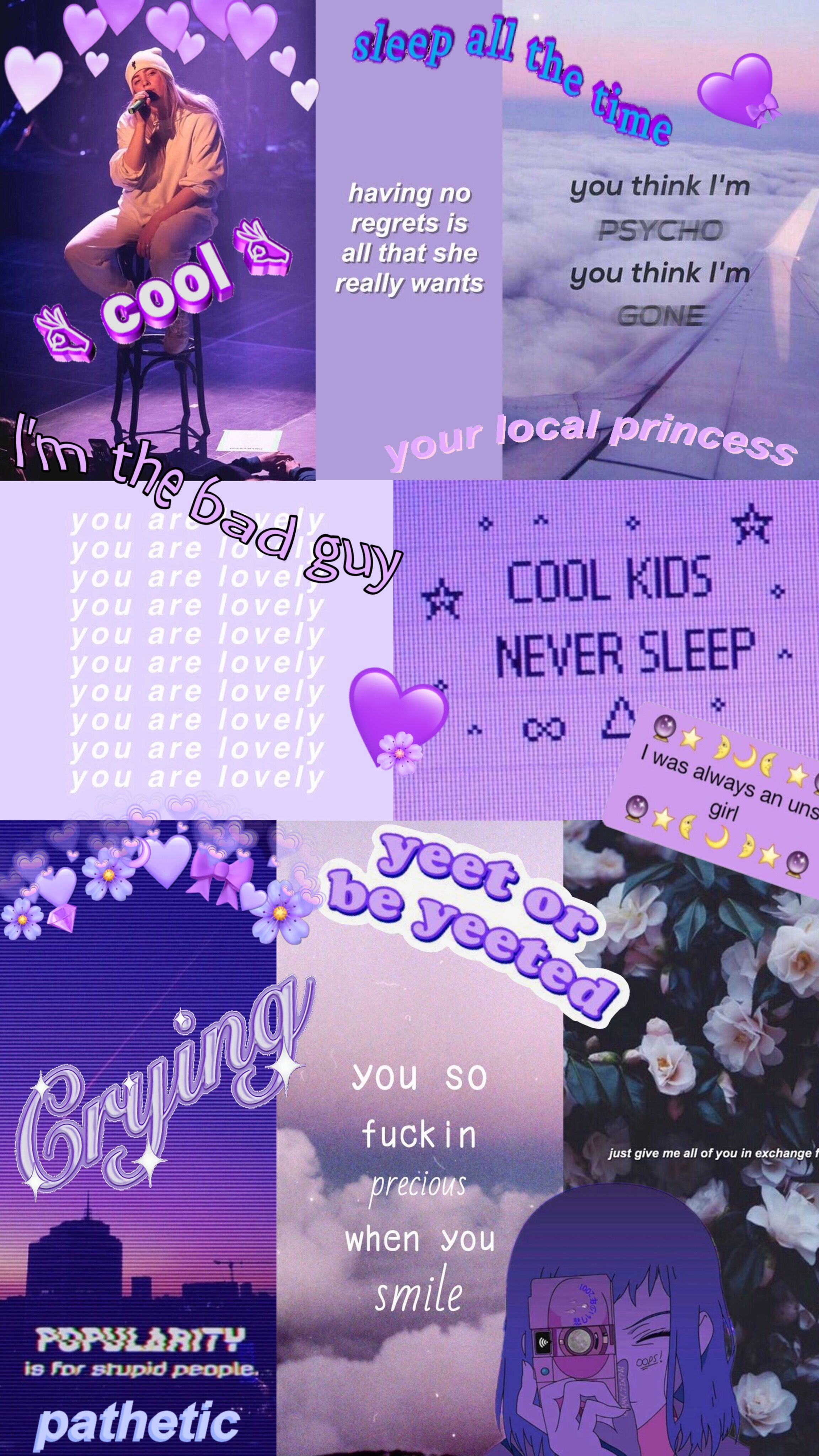 Purple Aesthetic Wallpaper Sis Your Welcome Purple Aesthetic Aesthetic Iphone Wallpaper Aesthetic Wallpapers