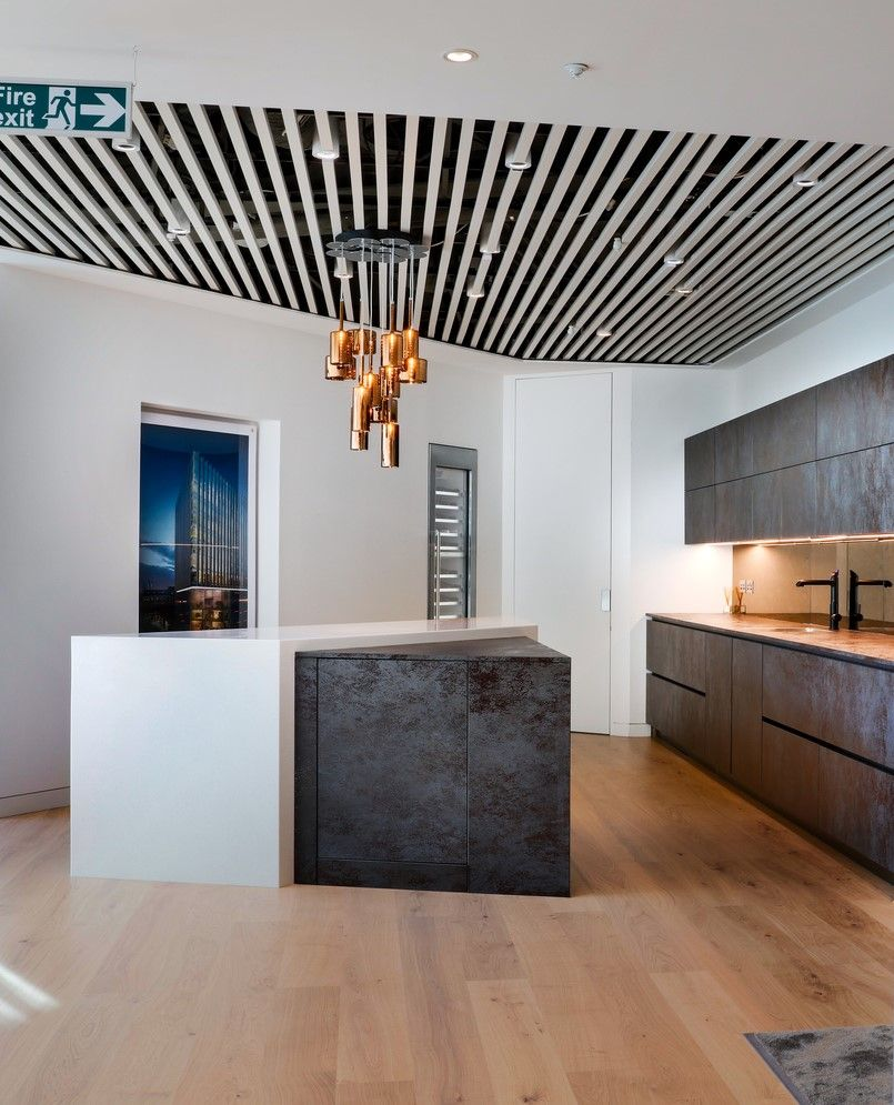 London office design luxury modern breakout space for luxury residential developer taylor