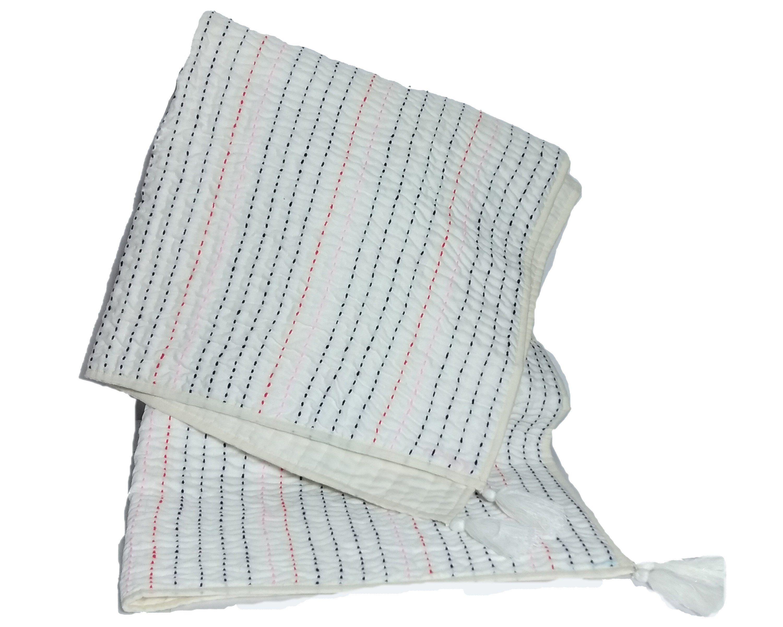 White Linen Throw Blanket White Linen Blanket Pick Stitch Linen Throw Blanket Hand Quilting Blanket Lap Quilt Wool Stitching Blanket White Throw Blanket Linen Throw Throw Blanket