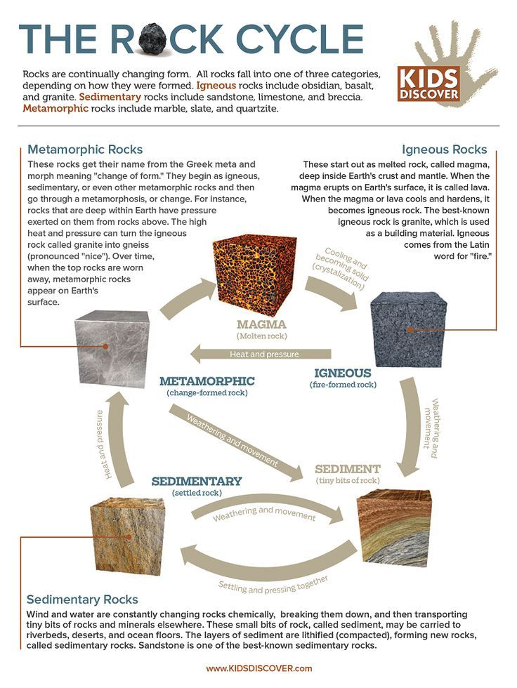 Infographic Rock Cycle With Images Rock Cycle Earth Science