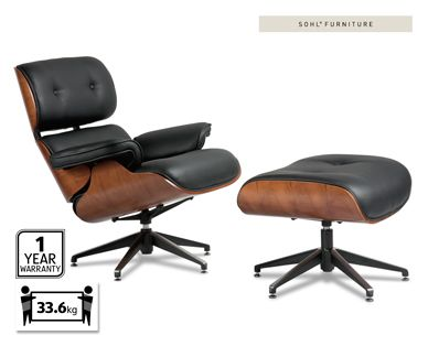 Love Aldi REPLICA EAMES LOUNGE CHAIR WITH OTTOMAN For the Home