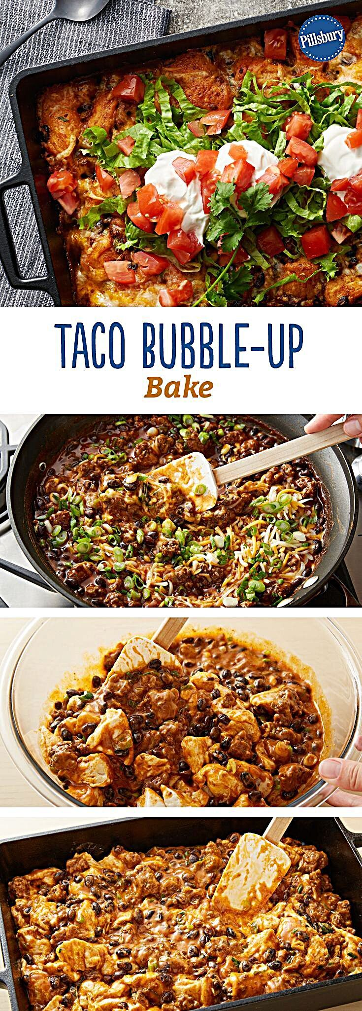 Try this easy-prep Mexican casserole with bubble-up biscuits. Add your favorite fresh toppings. Taco...