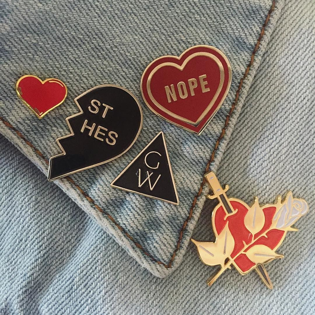 shop our pins & patches and show us your collection with #gypsywarrior and you may be featured on our IG! #pinandpatch #patchgame # #pinparty #pins #flair by gypsywarrior