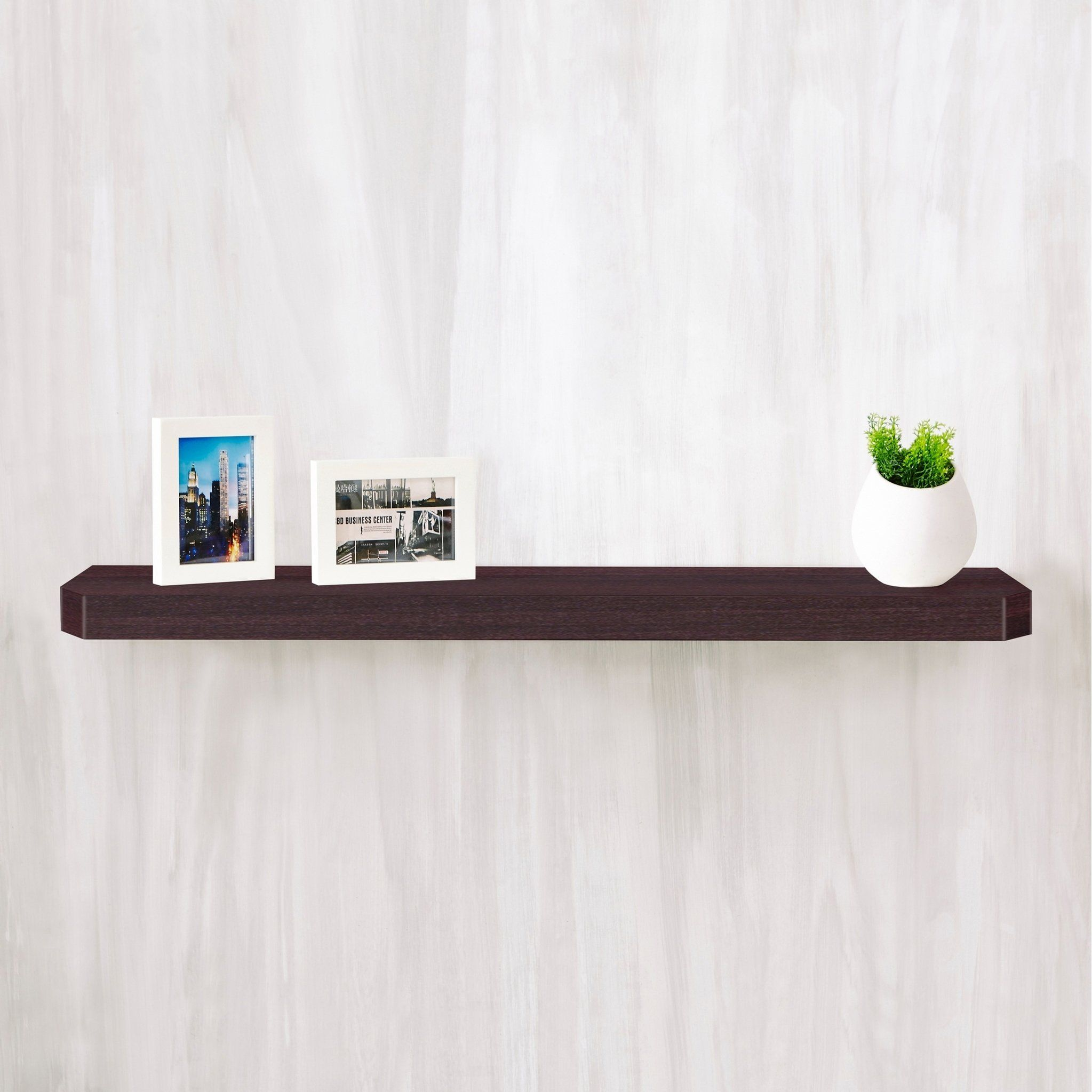 Eco 36 Uniq Floating Wall Shelf Espresso Brown Lifetime Guarantee As Is Item Way Basics In 2019 Wall Shelf Decor Floating Wall Shelves Floating Shelves