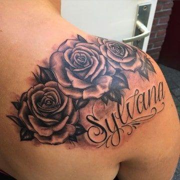 tatuajes con nombres y dibujos en el hombro Tatuajes en el brazo