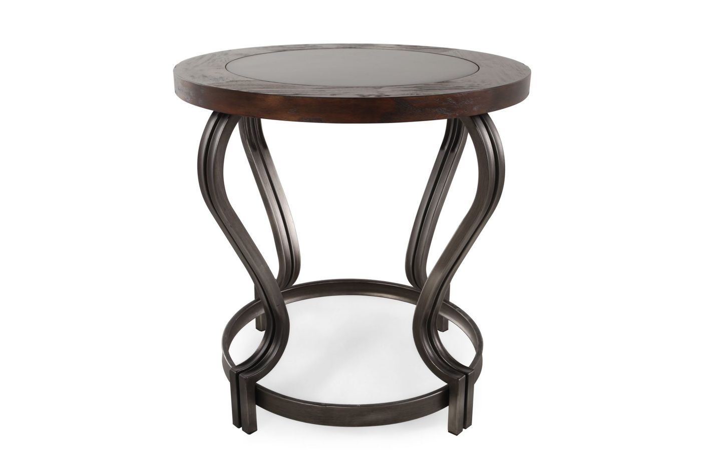 Ashley Volanta Round End Table Mathis Brothers Furniture Living Room End Tables Living Room Table Sets Living Room Coffee Table