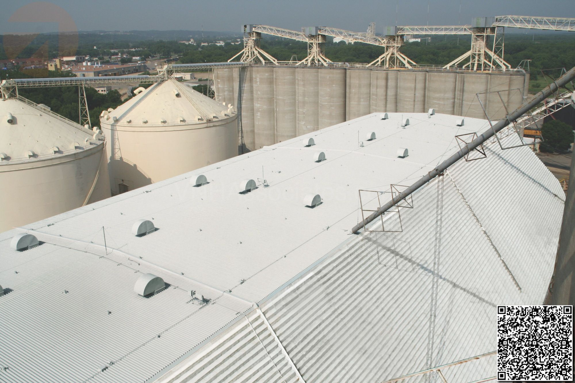 Conklin Elastomeric Foam Membrane White Roof Products And Installation Photos Roofing Installation Photo