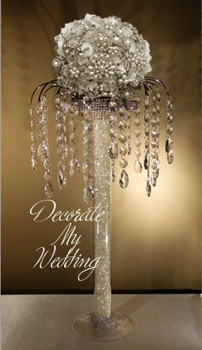 Decorate My Wedding Crystal Centerpiece Alane With Teardrops
