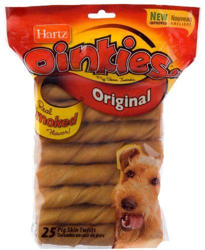 TOPSELLER! Hartz 25 Pack Pig Skin Twists 01049... 11.00