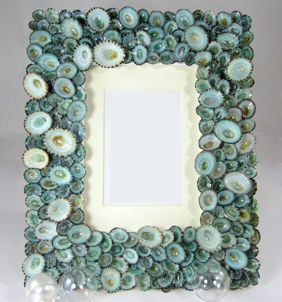 Seashell Frame, Beach Decor Shell Frame, Nautical Decor
