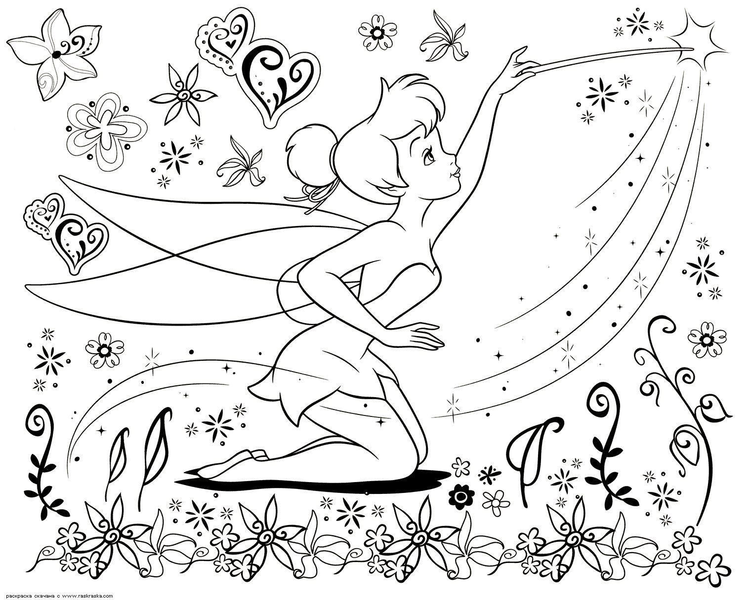 kleurplaat tinkerbell - Google zoeken  Fairy coloring pages