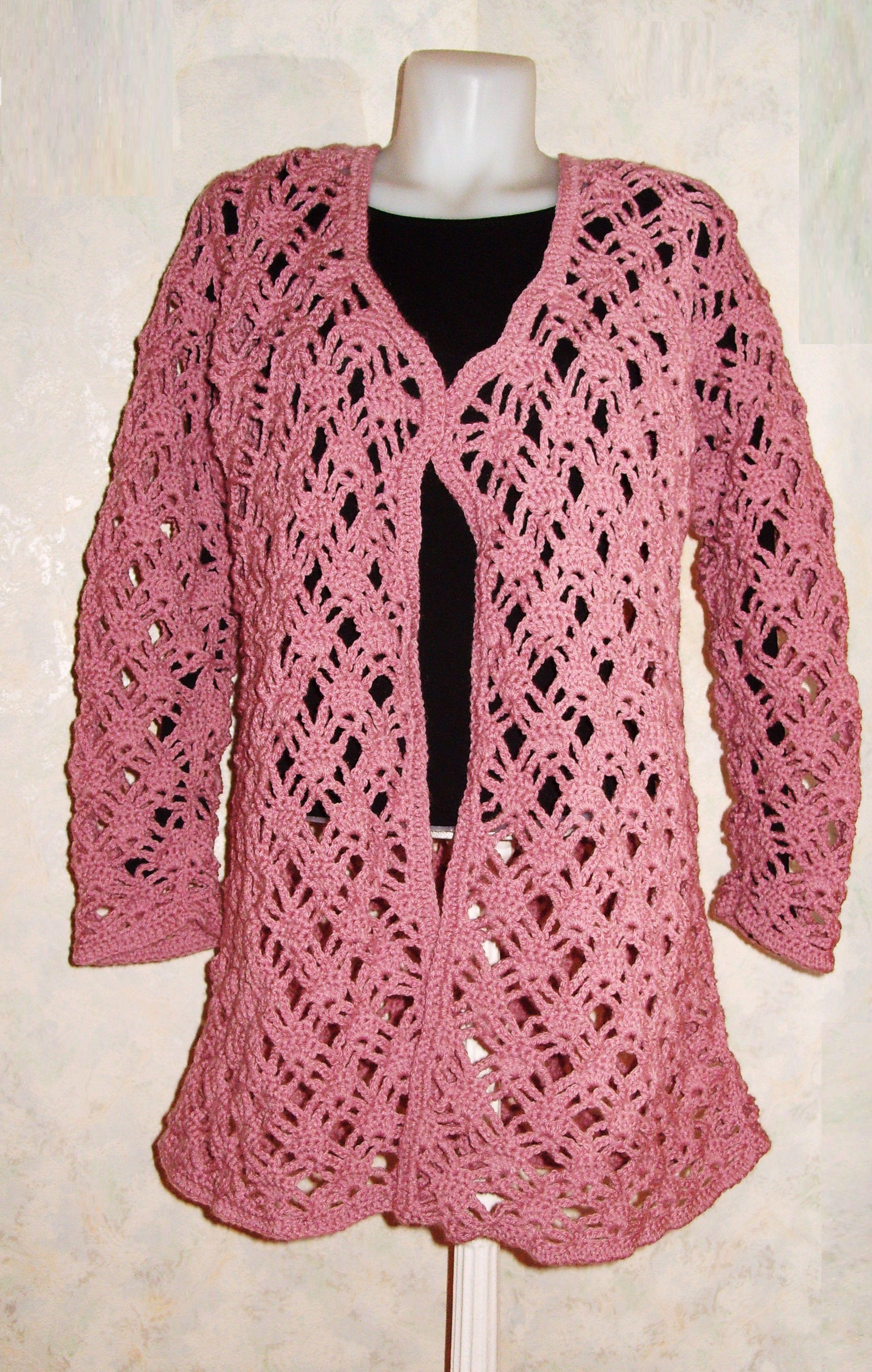 507cc47b0f Horgolt kardigán. | Horgolás | Sweaters és Fashion