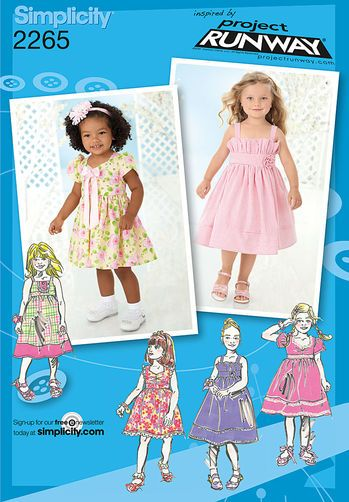 Toddlers Childs Dresses Project Runway Collection Sew Cute