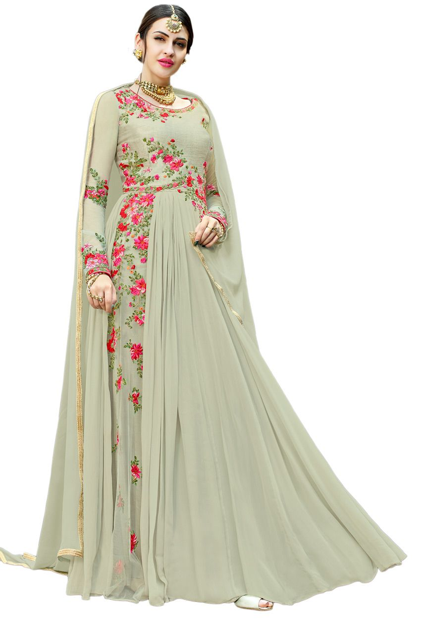 4694ee042b Semi Stitched Mint Green Art Silk Floor Length Anarkali Suit #partywear  #stylish #designer #partywearsalwarkameez #partywearsalwarsuit  #onlinesalwarkameez ...