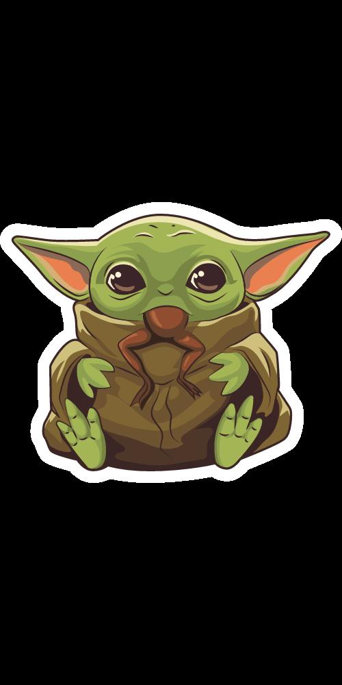 The Mandalorian Baby Yoda Eating Frog Star Wars Drawings Star Wars Stickers Star Wars Painting