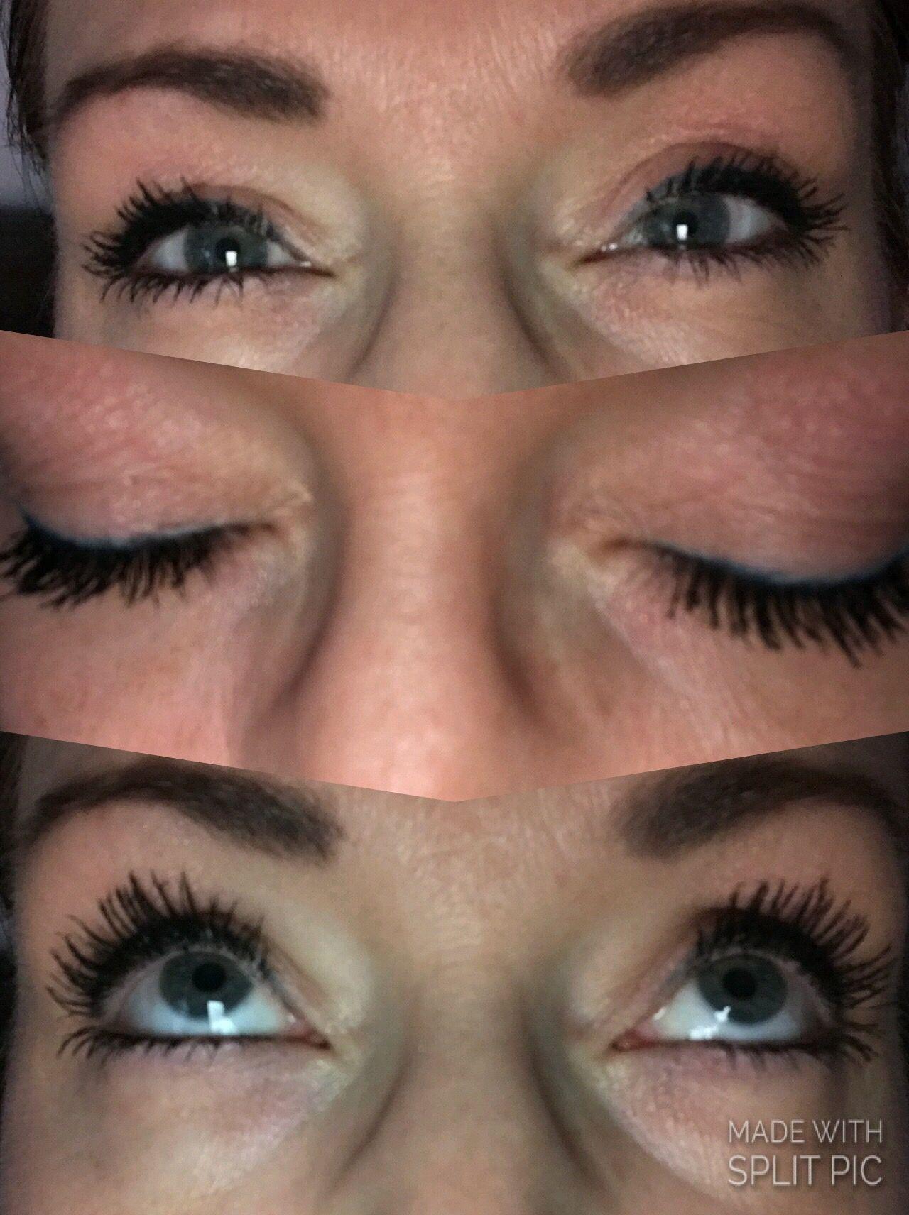 Moodstruck Epic Mascara 3d Fiber Lashes Abwechselnd Angewendet