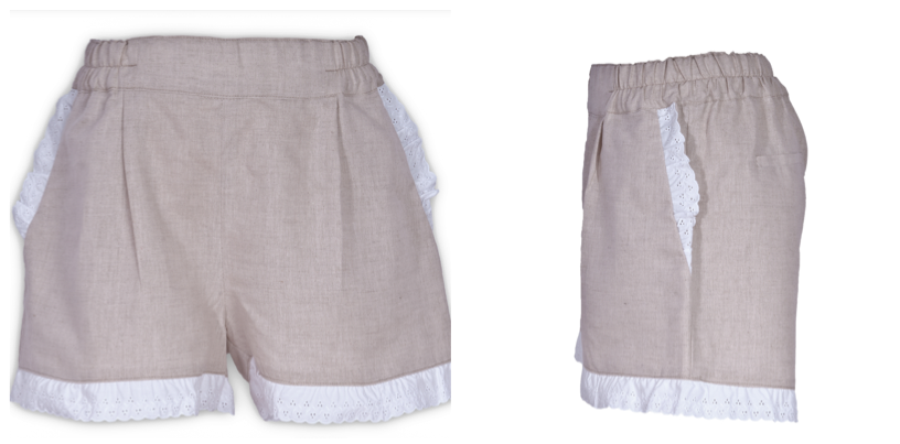Beige Linen Shorts. Elastic and comfortable. The ideal solution for a beach day or a ride, always with style.