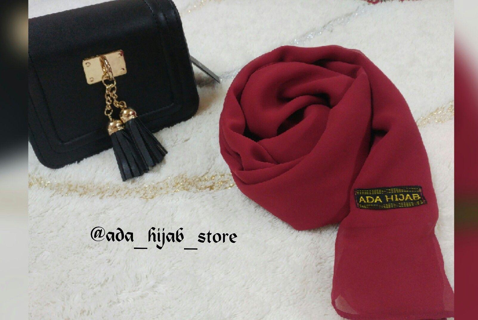 Basic rust red hijab Contact us or follow us on instagram @ada_hijab_store #hijab #hijabfashion