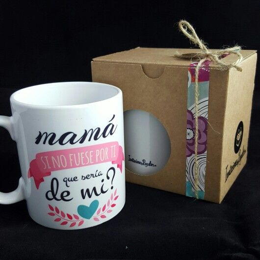 Taza para mama consíguela en www.invitacionesyregalos.es