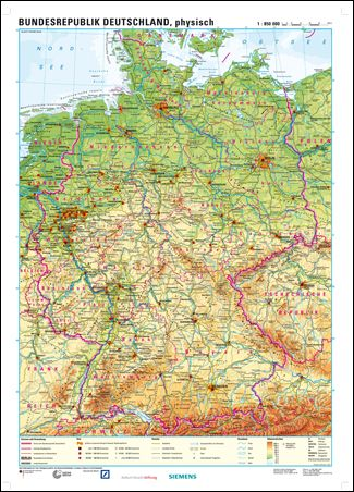 Physical Map Of Germany Top K 12 Teaching Materials Pinterest