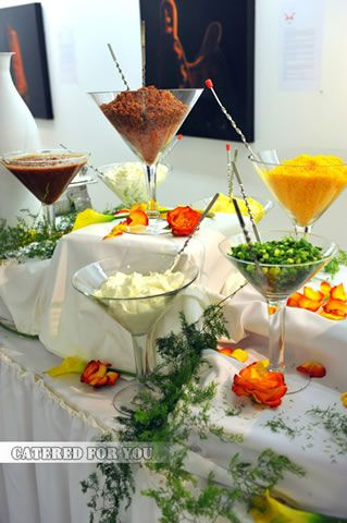 Mashed potato bar toppings @Jennifer L, you know I love this haha ...