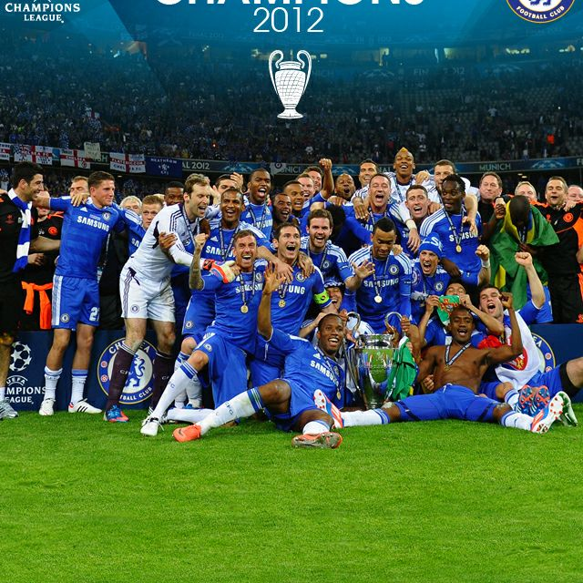 Champions League Winners 11 12 Chelsea Football Chelsea
