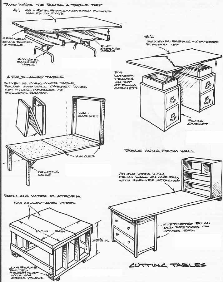 Sewing Storage Ideas | Cutting Tables : Designs U0026 Building Ideas. Folding U0026  Fold