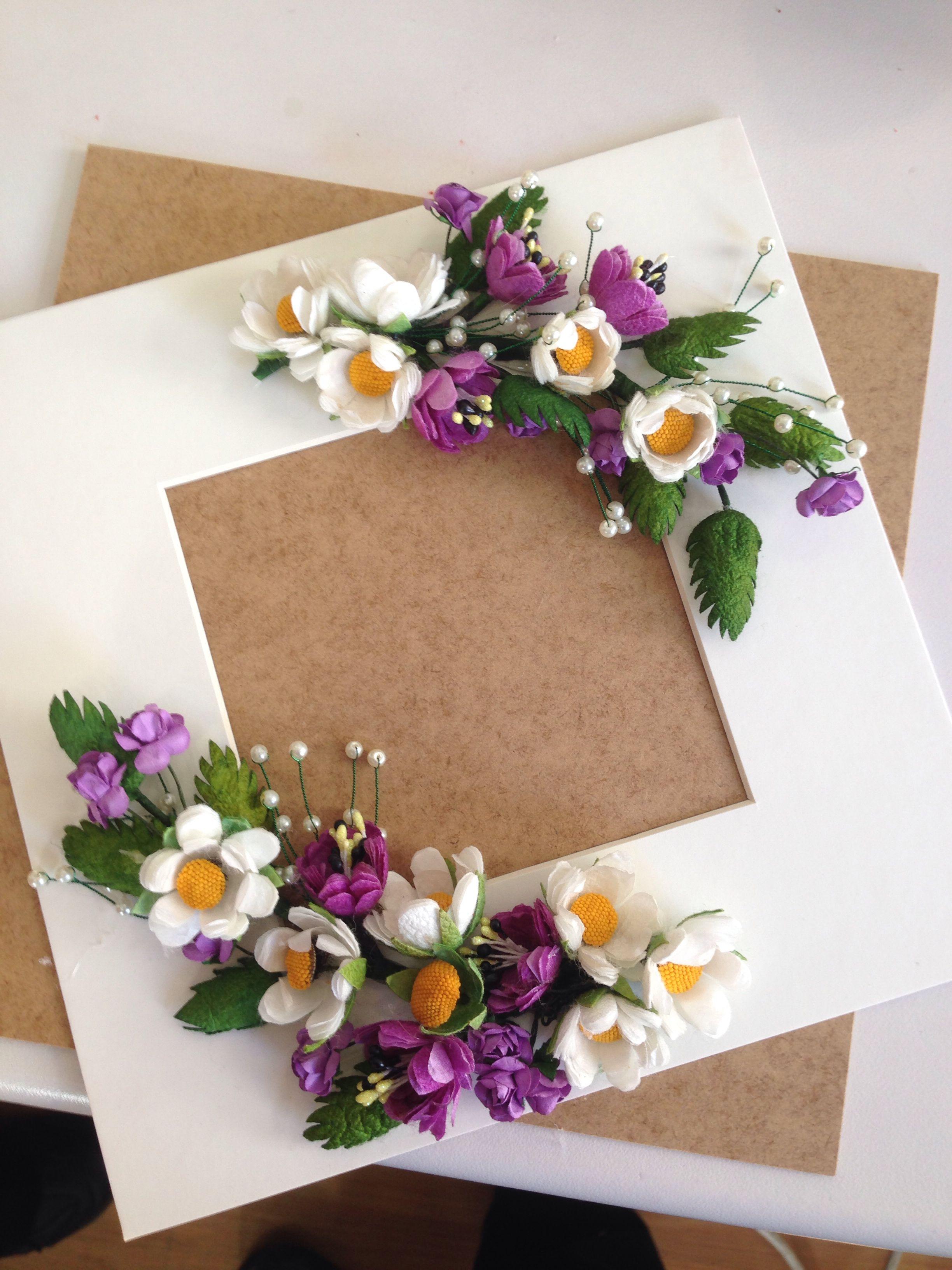 Er eve kap s s marcos de cart n flores de arcilla - Manualidades cuadros modernos ...
