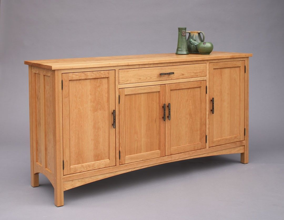 Craftsman hampton sideboard with optional handles in for Craftsman cabinet plans