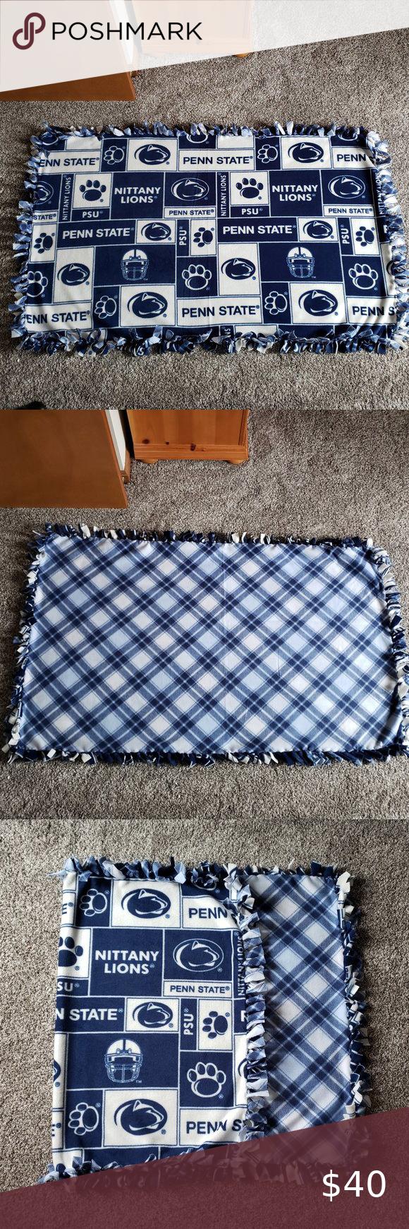 Penn State University No Sew Fleece Blanket No Sew Fleece Blanket Homemade Blankets Sewing Fleece