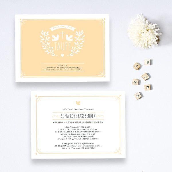 Taufeinladung+-+Einladung+zur+Taufe+-+Kommunion+-++von+BonjourPaper+auf+DaWanda.com