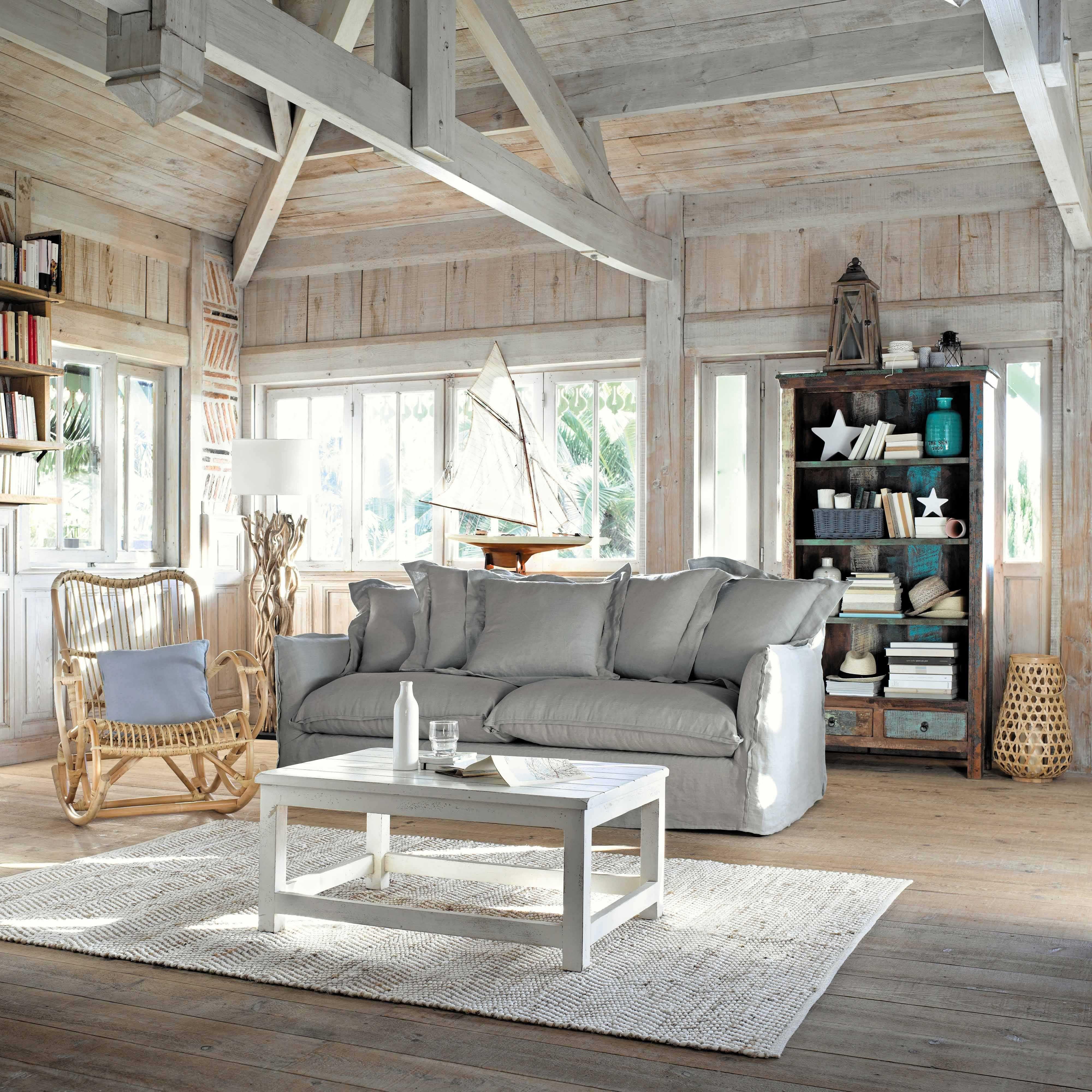 table basse en manguier blanc vieilli l 90 cm avignon maisons du monde d co g tes chambres. Black Bedroom Furniture Sets. Home Design Ideas