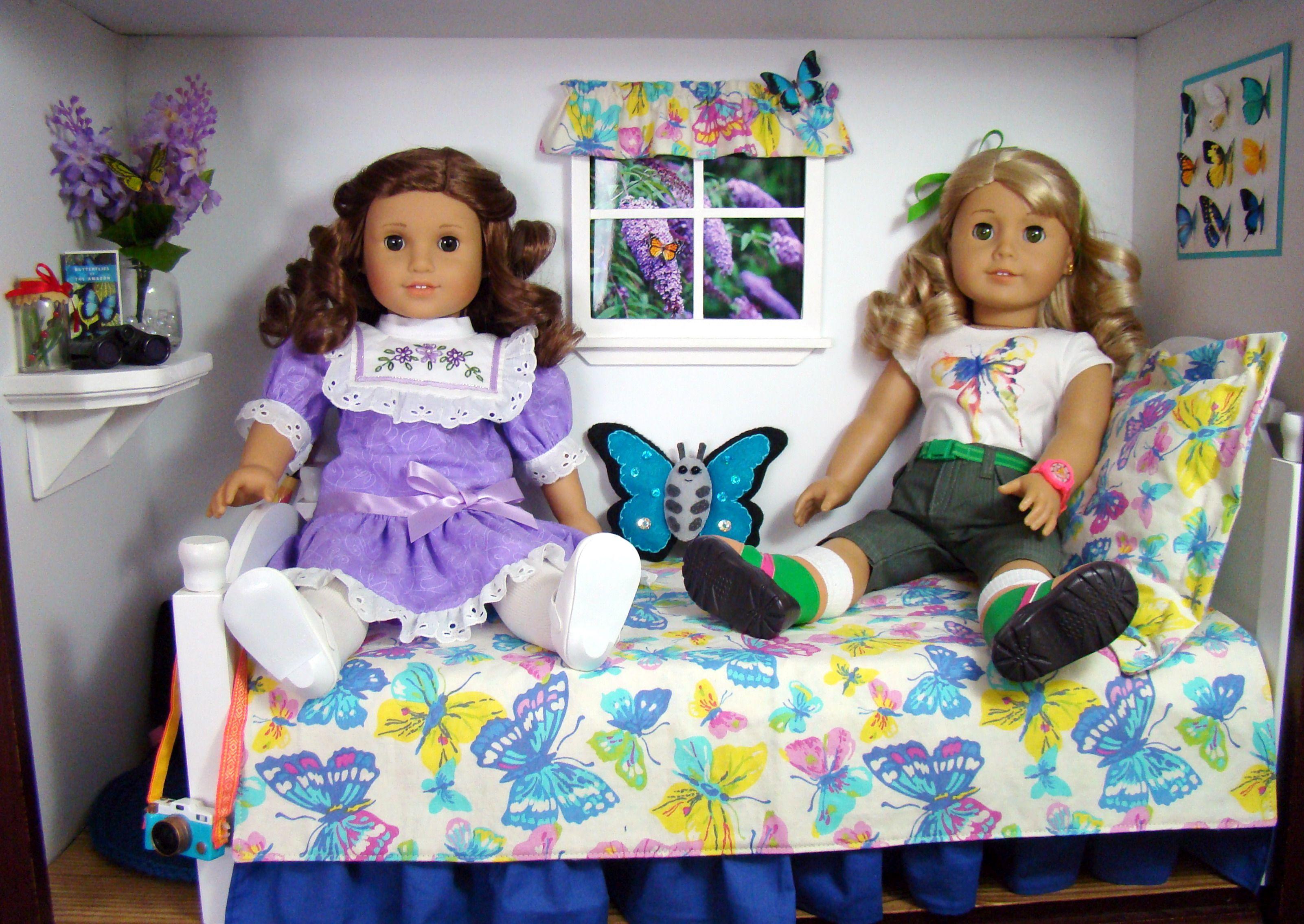 butterfly bedroom for american girl dolls in 2020