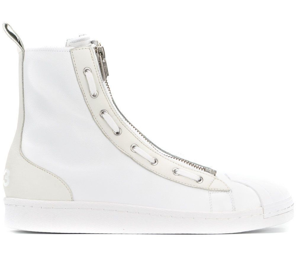 0c390afcc eBay  Sponsored Y-3 ADIDAS YOHJI YAMAMOTO MEN SHOES PRO ZIP WHITE HIGH TOP