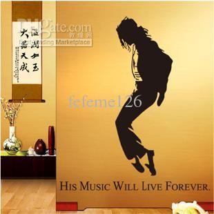 Diy Personalizado Da Matéria Parede Home Decor Michael Jackson / Mj Adesivos De Parede Decalques Frete Grátis