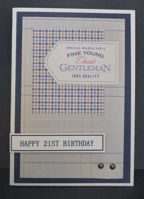 Classic Masculine 21st Birthday Card 1501 Greeting Card Ideas