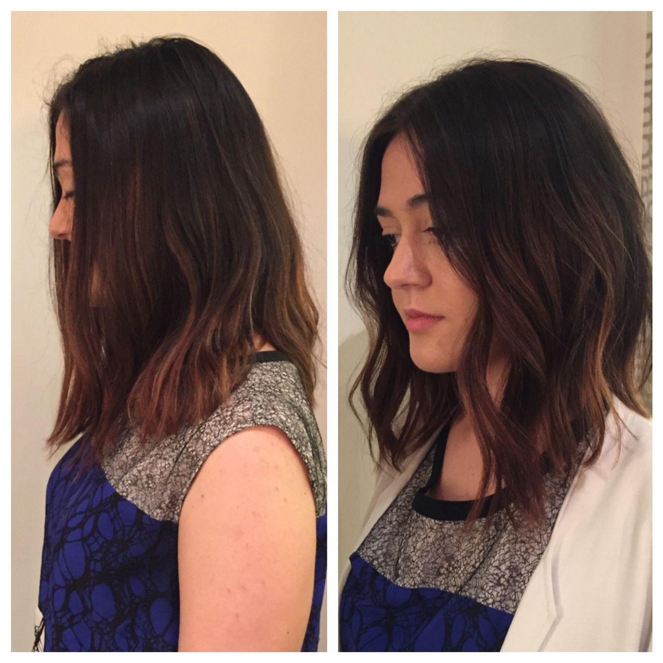 Before And After Razor Bob Lob Long Bob Haircut Texture - Razor haircut